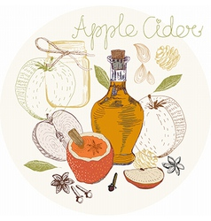 Apple Cider background vector