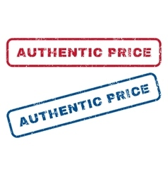 Authentic Price Rubber Stamps vector image