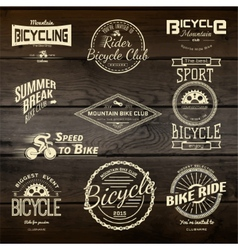 Bicycle set badges logos and labels for any use vector