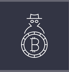 Bitcoin cryptocurrency blockchain flat logo use vector