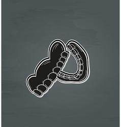 Black denture vector
