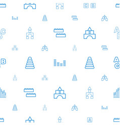 Block icons pattern seamless white background vector