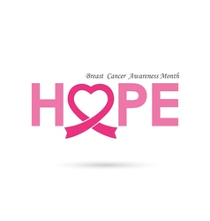 Breast cancer awareness logo design vector