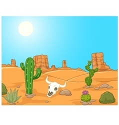 Cartoon desert landscape wild west vector
