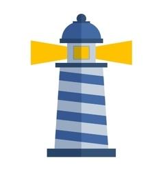 Cartoon flat lighthouse vector