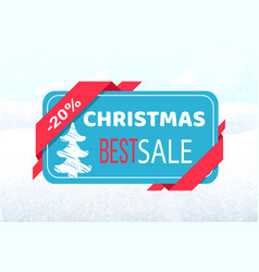 christmas best sale promo tag discount 20 percent vector image