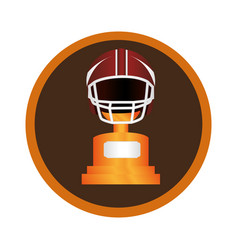 Circular frame with american football helmet and vector