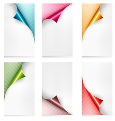collection colorful paper banners paper design vector image