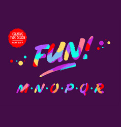 Colourful typography type design vector