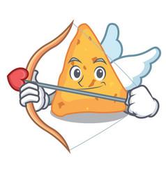 Cupid nachos character cartoon style vector