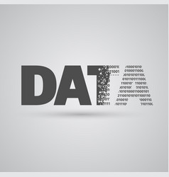 data sign vector image