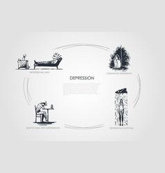 depression - professional help childhood vector image