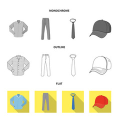 Design man and clothing icon set man vector