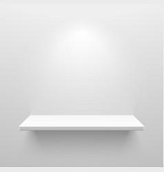 Empty white shelf for exhibit vector
