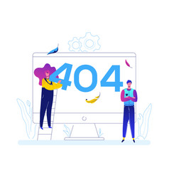 error 404 page - flat design style colorful vector image