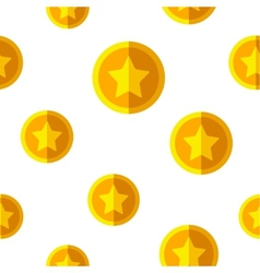Flat coins seamless background vector