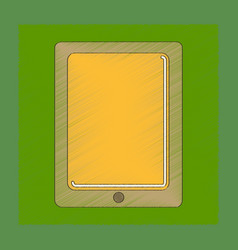 Flat shading style icon tablet gadget vector