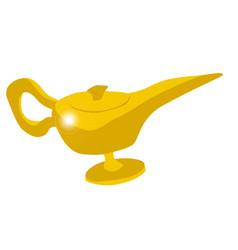 Genie magic lamp vector