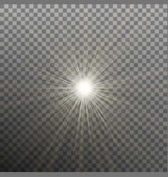 Glowing light burst effect with on transparent vector