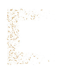 gold ribbons confetti vector image