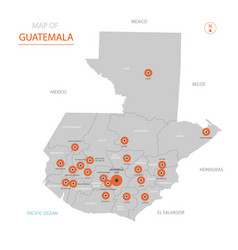 guatemala map with administrative divisions vector image