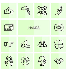 hands icons vector image