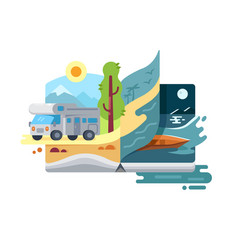holidays and vacations in nature vector image