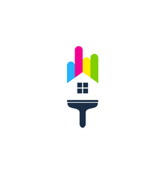 home paint logo icon design vector image