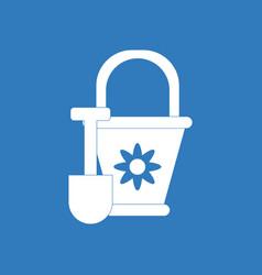 Icon on background shovel and bucket vector