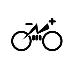 isolated electric city bike symbol icon trekking vector image