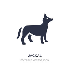 Jackal icon on white background simple element vector