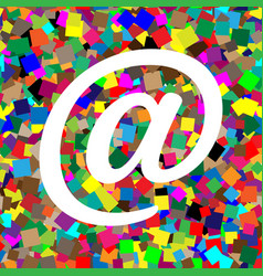 mail sign white icon on vector image