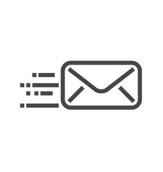 mail thin line icon vector image
