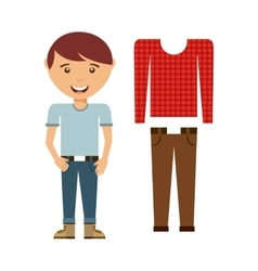 Male fashion wear icon vector
