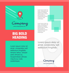 map pointer company brochure title page design vector image
