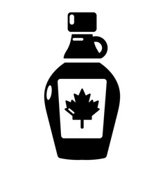 Maple syrup icon simple black style vector