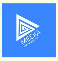 Media spiral play logo vector