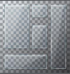 modern transparent glass plates set vector image