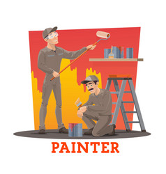 painters painting wall painting service workers vector image