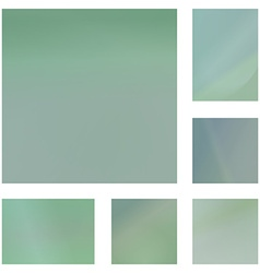 Pale green abstract background set vector