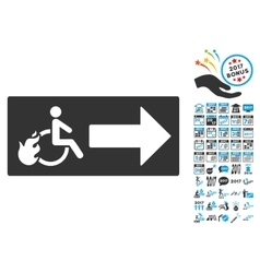 Patient Exit Icon With 2017 Year Bonus Pictograms vector