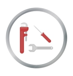 Plumbing tooles icon in cartoon style isolated on vector image