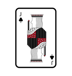 Poker playing card jack club vector