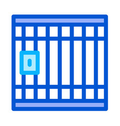 police prison bar gate icon outline vector image