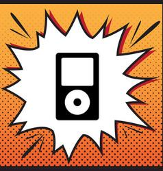 Portable music device comics style icon vector