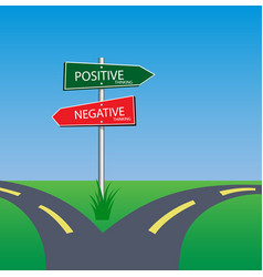 Positive and negative concept vector