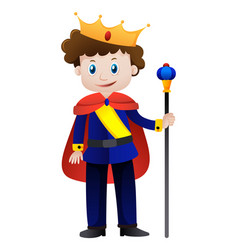 prince with golden crown vector image
