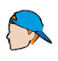 Profile man head male sport image vector