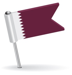 Qatar pin icon flag vector image