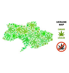 Royalty free cannabis leaves style ukraine map vector